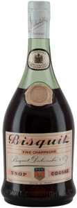 Bottle with signature, no content or ABV stated; 'produce of France' in small letters printed below the emblem; 70cl