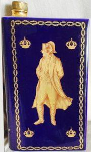 Napoleon, Castel limoges, laurels on the front and solid wedges on the back; lighter blue