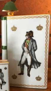 Very similar to the others, but Napoleon is now not standing in the middle: look at the distance of the head to the crowns