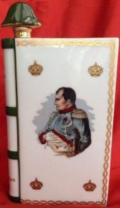 Napoleon bust, De Haviland limoges; green bicorn cap