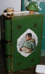 Napoleon bust, Castel limoges, solid gold bands on the back