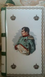 Napoleon Castel limoges, green bands on the back are less massive; Castel logo (now in red) has the name Castel stated
