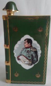 Napoleon bust, Castel limoges, solid gold bands on the back; Castel logo on the bottom has Castel stated