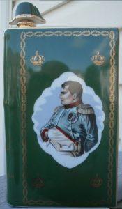 Napoleon bust, Castel limoges, solid gold wedges on the back