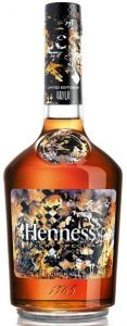 Designed by Vhils (2018) without content or alcohol percentage stated (70cl); below only 'cognac' is stated