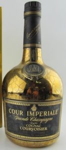 750ml (stated on the box; click to see); two lines of text underneath 'Courvoisier'; abv and content probably stated too