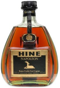 Hine placed above Napoleon; 70cl Extra Vieille Fine Cognac; 40%vol stated