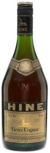 VSOP vieux cognac, 24 fl oz and 68cl stated above on the left (1970s)