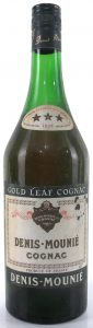 With a small gold leaf; three stars on the neck label; suppliers of fine cognac; 70cl (1960s)