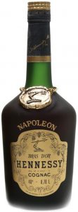 Napoleon on the shoulder (without accent), Bras d'Or in big letters. Alcohol percentage and content 0,70L stated