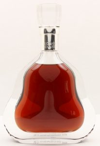 On the neck is 'cognac' written and at the base it says: 'Travel retail cognac'. 70cl is stated on the back.
