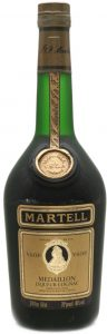 24 floz 68 cl 70 proof 40% vol stated in gold lettters on the black area below; liqueur cognac (1981)