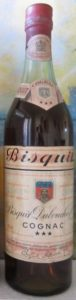 73cl stated on the lower left (1950-60s); Bisquit in capitals on the neck label