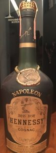 Napoleon on the shoulder (without accent), Bras d'Or in big letters. Italian import, Wax & Vitale; 750 cc