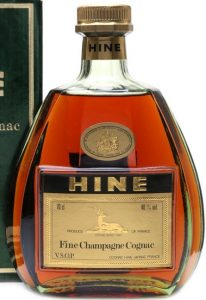 Fine champagne cognac; 70cl stated; no ribbon from stopper to the neck label