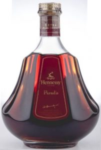 Paradis with 'Extra rare cognac' stated on the neck; more text below the signature