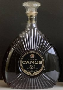 Additional text below 'superior': DL and Camus Cognac France. Content not stated, magnum; looks considerable bigger in comparison with a normal bottle