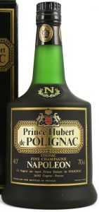40% and 70cl stated, with text: ce cognac est signé Prince Hubert de Polignac