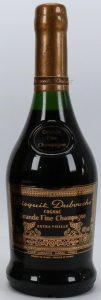 Extra Vieille grande fine champagne, 70cl and 40%vol stated; cap made of yellow wax