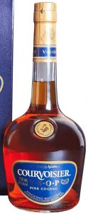 750ml stated, much brighter blue and different text below fine cognac