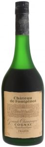 Chateau de Fontpinot, grande champagne; Frapin named on the label; 41%Vol and 70cl stated; 1970-80s