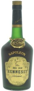 Napoleon on the shoulder (without accent), Bras d'Or in big letters. No alcohol percentage or content; Bouteille number stated