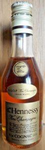 0.029L. On shoulder label: first line: VSOP Fine Champagne; second line: grande reserve; with the arm and ax emblem
