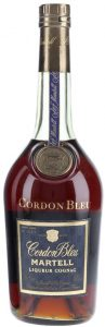 Dark label; liqueur cognac; 70cl and ABV stated