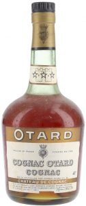 With a castle on the neck label; Otard on a brown band