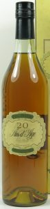 20 years old, no cru stated, no content stated on the front; 70cl; no text or house on the capsule