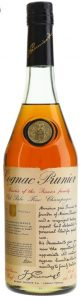 In the blob is the family crest; Old Pale Fine Champagne; 68cl 24 fl ozs and 70 proof stated