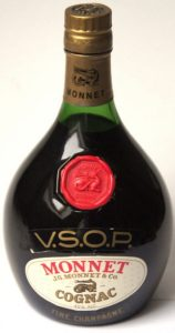 Fine champagne, greenish text on label; content not stated, around 70cl