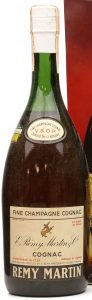 1940-50s; 4/5 quart stated; on the main label: 'Fine Champagne Cognac'
