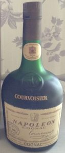 With 'COGNAC' printed underneat; Belgian import for Breuval; 70cl, 1974