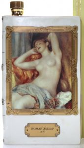 Renoir: Woman Asleep, 70cl; Astoria limoges; with a recycling symbol on the bottom and on the box.