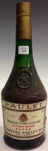 Paulet, Grande fine cognac; green glass