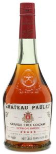 Chateau Paulet, grande fine cognac; clear glass; not less than 24 FL OZS