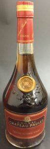 VSOP réserve, très grande fine cognac; red label with a shoulder blob
