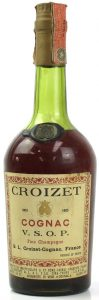 "750cc, Italian import for Fratelli Cora, Torino; with aquavite di vino ""cognac"" stated lower, were the importer data are"