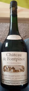Chateau de Fontpinot, grande champagne; Frapin named on the cap; Französisches Erzeugnis, only 40° stated