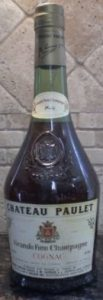 Grande fine champagne, 4/5 quart and 80proof stated; bell shaped squat bottle