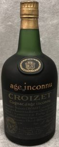 Age Inconnu, no back label, no content or ABV stated