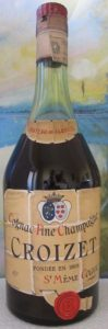 Chateau de Flaville, normande bottle with a paper duty seal on top (1950s)