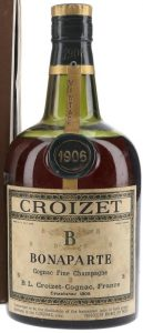 1906 fine champagne cognac, dumpy bottle (est. 1950-60s)
