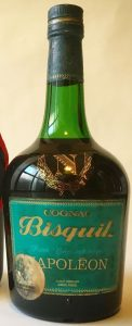 70cl; with 'cognac' printed above 'Bisquit'; text on the back is in English