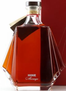 With Hine Mariage stated on the bottle, with humidor in red box