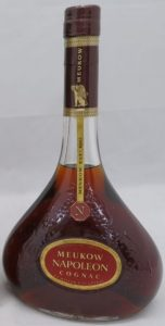 Napoleon, 0,7L stated on the back; label more red; Japanese import, different back