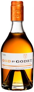 God by Godet cask super strenght 70.6% petite champagne compte 4, 35cl; yellow cap (2019)