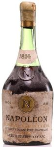 1814 with an emossed 'N' on the shoulder; fine champagne vintage (est 1930-40s)