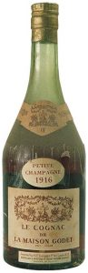 1916 Petite Champagne, with an addititional label with importer data